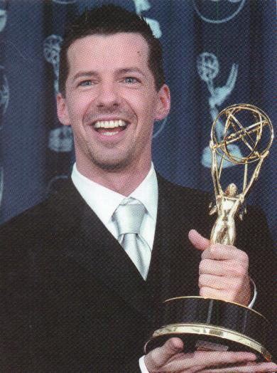 """This is me winning the Emmy award for outstanding supporting actor in a television comedy series. (I played Jack McFarland on """"Will and Grace"""".) - emmy"""