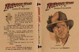 Indiana Jones, cover inlay for DVD case.
