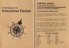 Indiana Jones, instruction manual and reference card.